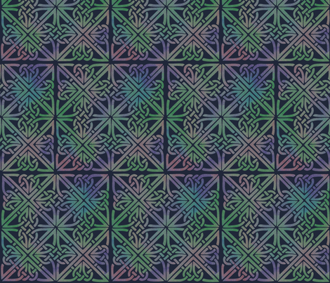Celtic Square Midnight fabric by elephant_trunk_studio on Spoonflower - custom fabric