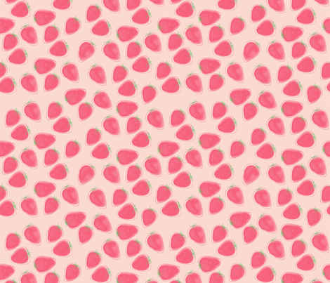 Strawberry Jumble  fabric by samdraws on Spoonflower - custom fabric