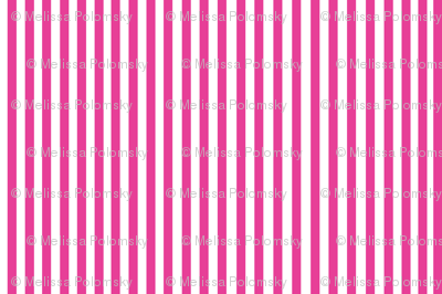 Perfectly Pinstripe in Magenta // White
