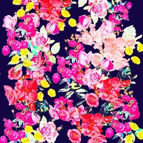Vintage Inspired Floral in Summer Bright