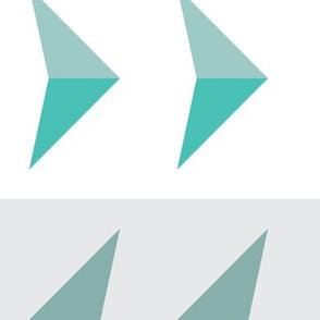 Arrows in modern blue