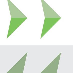 Arrows in modern green
