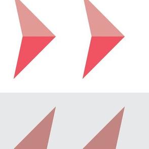 Arrows in modern pink