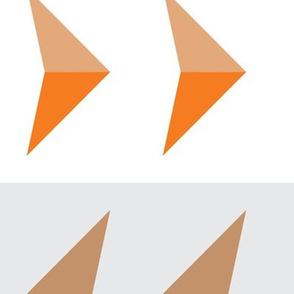 Arrows in modern orange