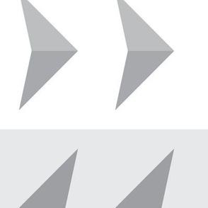 Arrows in modern gray