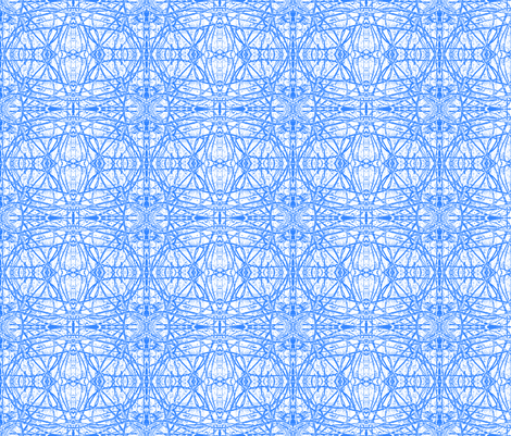 Blue Vines fabric by robin_rice on Spoonflower - custom fabric
