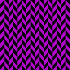 Small Purple Chevron Braid