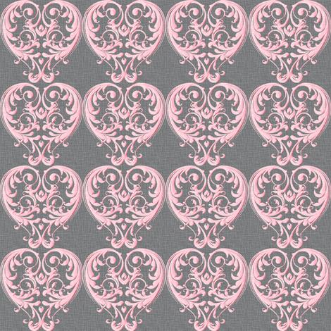 Opera Damask Pink fabric by vannina on Spoonflower - custom fabric