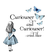 Alice in Wonderland Curiouser Blue