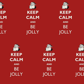 Santa Keep Calm Be Jolly