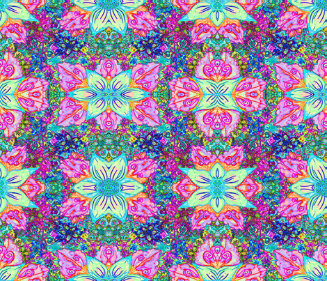 LIKE IN INDIA Large Pastel fabric by paysmage on Spoonflower - custom fabric