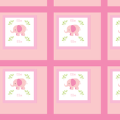 Pink Elephants Quilt -Personalized