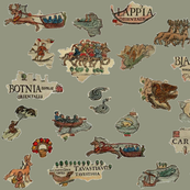 Old Nordic Map