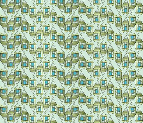 blue candle line seafoam fabric by luluhoo on Spoonflower - custom fabric