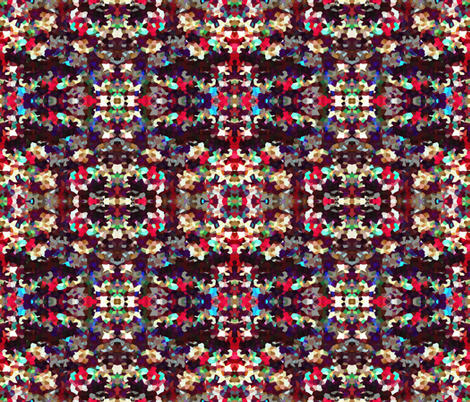 Pixelated Christmas Lights in Mirror Repeat fabric by anniedeb on Spoonflower - custom fabric