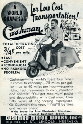 1952 Cushman Scooter Advertisement