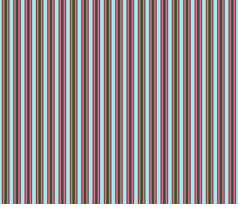 Elephants_in_my_Garden_aqua_brown_pink_stripe_2-02 fabric by shellypenko on Spoonflower - custom fabric