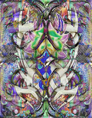Tribal White Snakes