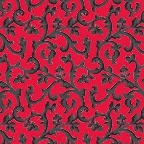 Red___Charcoal_Scroll