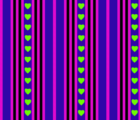 zombiehearts fabric by kaylaconspiracy on Spoonflower - custom fabric