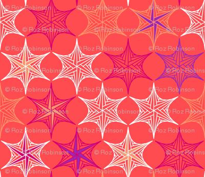 star parabola - coral
