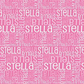 Personalised Name Fabric - Pink