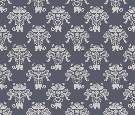 Elephants in my Garden version 3 fabric by shellypenko on Spoonflower - custom fabric