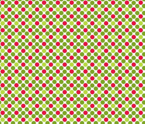 Giant_Christmas Polkas fabric by kelly_a on Spoonflower - custom fabric