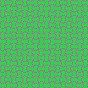 Green with Purple Squiggles