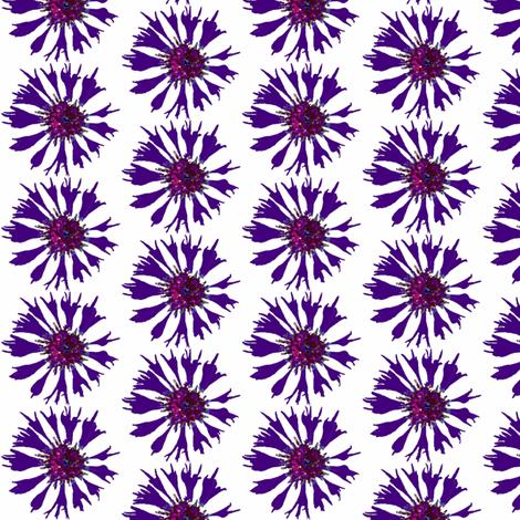 Dark cornflower on white (s) fabric by vib on Spoonflower - custom fabric