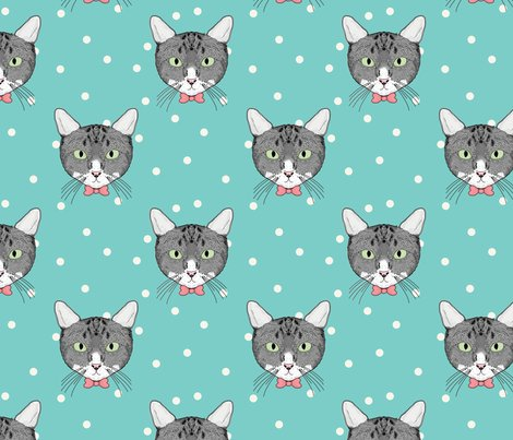 Polka_cats_green_shop_preview