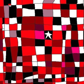 Grid with star red black