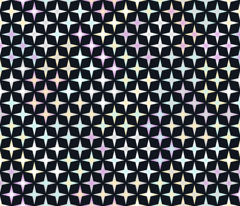 Shimmering colors and shapes in your peripheral vision fabric by mongiesama on Spoonflower - custom fabric