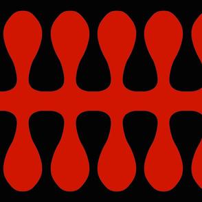 Black Red Swiggles