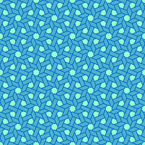 octagonal star X weave fabric by sef on Spoonflower - custom fabric