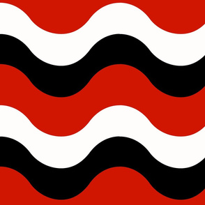 Shallow Waves Red Black White