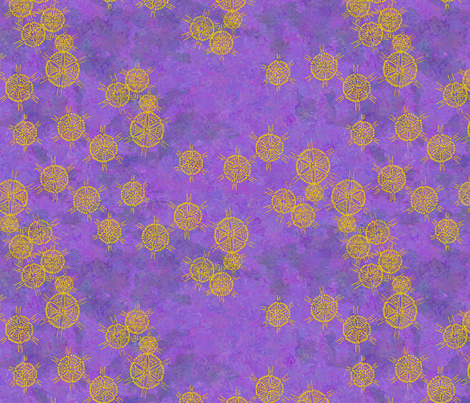 Seven Sisters in Space Violet Impressionistic Version fabric by bloomingwyldeiris on Spoonflower - custom fabric