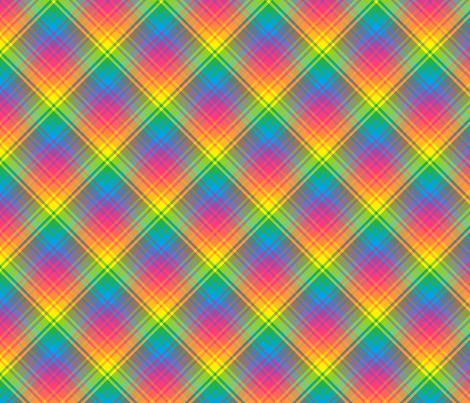 Rainbow Plaid 04 fabric by anneostroff on Spoonflower - custom fabric