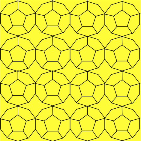 Golden Dodecahedrons fabric by wittythings on Spoonflower - custom fabric