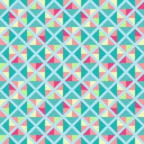 Sherbet-inspired geometric print fabric by garviek on Spoonflower - custom fabric