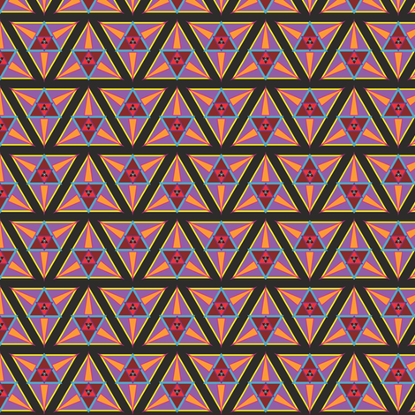 geometric sunset fabric by eronel on Spoonflower - custom fabric