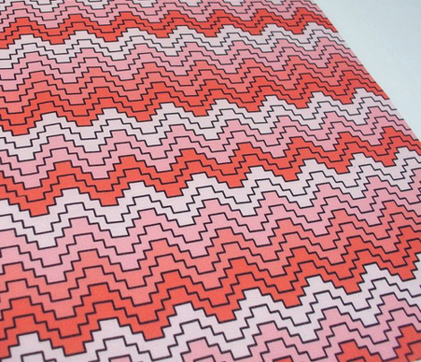 stepped chevron coral ombre