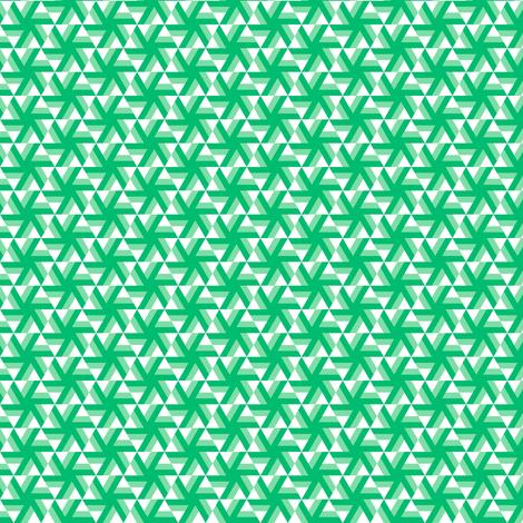Emerald Pinwheel fabric by catbaconcreative on Spoonflower - custom fabric