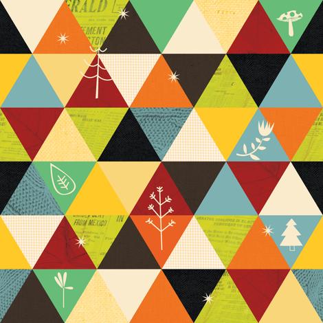 Geometric woodland fabric by laurawrightstudio on Spoonflower - custom fabric