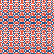 honeycomb - blue and red