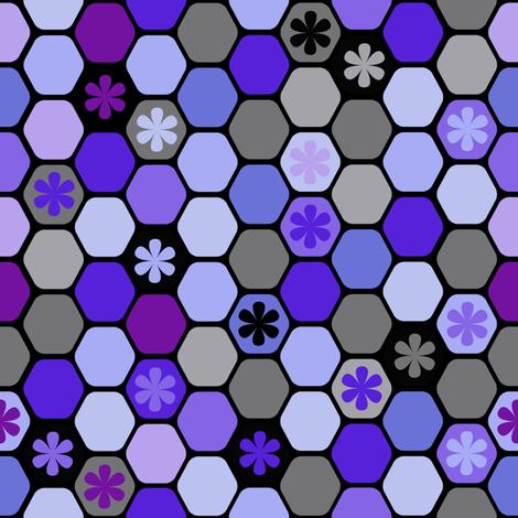 BZB Honeycomb Winter fabric by bzbdesigner on Spoonflower - custom fabric