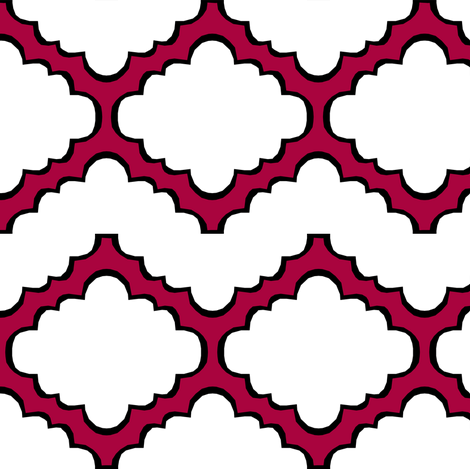 Fluffy Chevron Geometric fabric by pond_ripple on Spoonflower - custom fabric