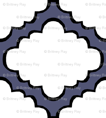 Fluffy Chevron Geometric Blue