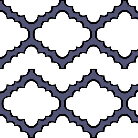 Fluffy Chevron Geometric Blue fabric by pond_ripple on Spoonflower - custom fabric