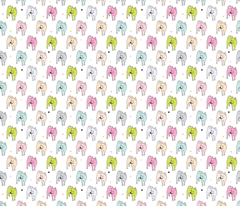 All dogs and puppy girls pastel pet print fabric by littlesmilemakers on Spoonflower - custom fabric